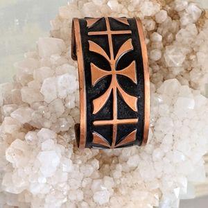 70's Vintage Copper Cuff Bracelet